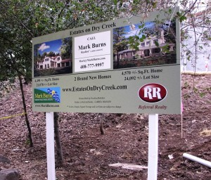 Real Estate Site Sign