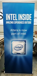Digital Print Banner on Banner Stand - Intel / Altera