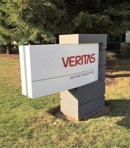 Custom Monument with Dimensional Logo - Veritas
