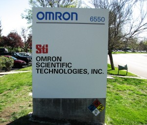 Custom Monument on Concrete Base - Omron / STI