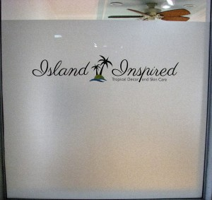 Logo Overlay on Privacy Film - Island Inspired