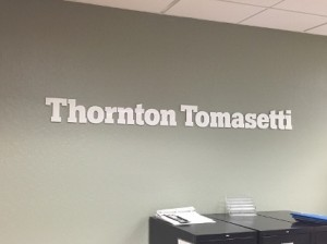 Dimensional Lobby Sign - Thornton Tomasetti