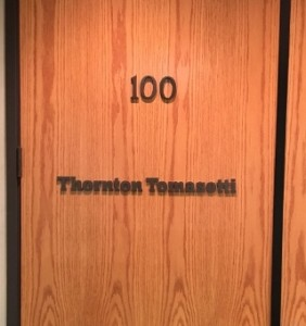 Office Door Letter Signs - Thornton Tomasetti