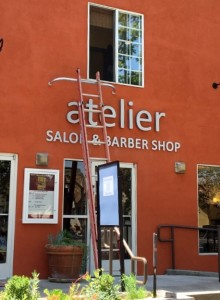 Installing Dimensional Letters Sign - Atelier Salon