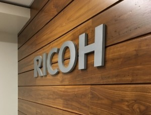 Brushed Aluminum Lobby Sign - Ricoh