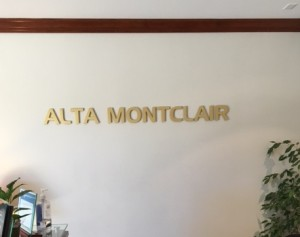 Brushed Gold Lobby Letters
