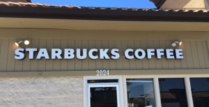 Illuminated Channel Letters - Starbucks