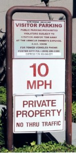 Old Property Sign