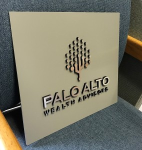 Custom Dimensional Suite Sign - Palo Alto Wealth Advisors