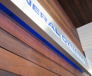 Illuminated Lobby Sign - Halo effect - General Dynamics