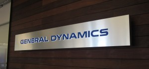 Illuminated Lobby Sign - General Dynamics