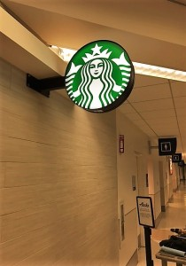Starbucks Logo Sign - San Jose Airport