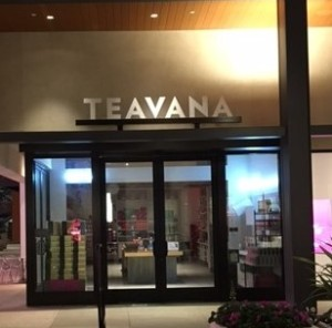 Non-lit Channel Letters on Custom Bracket - Teavana