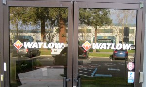 Door Logo Graphics - Watlow - STS