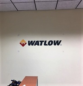 Lobby Sign - Watlow - STS