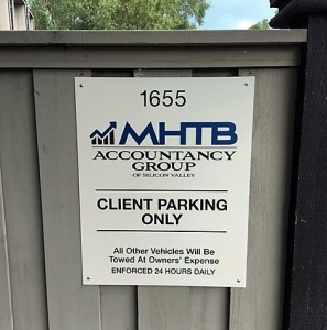 Panel Sign - MHTB Accountancy