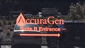 Contour Cut Logo on Window - AccuraGen