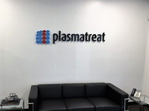 Dimensional Lobby Sign - Plasmatreat