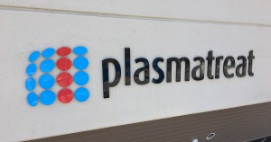 Dimensional Building Sign - Plasmatreat