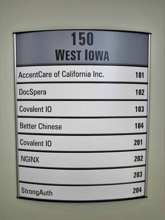 New office directory signs signs unlimited for Builders unlimited