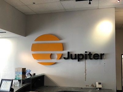 New Building Logo Sign - Jupiter Systems (by InFocus